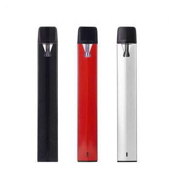 New Products 1ml Glass Vape Cartridges Flat Metal Mouthpiece